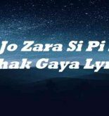 Jo Zara Si Pi K Behak Gaya Lyrics