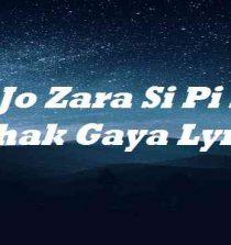 Jo Zara Si Pi K Behak Gaya Lyrics