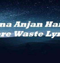 Mana Anjan Hai Tu Mere Waste Lyrics