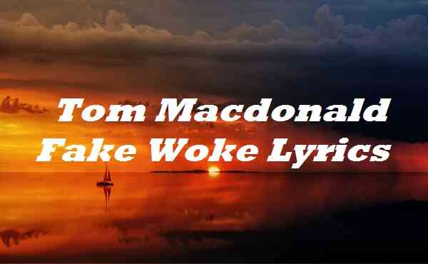 Tom Macdonald Fake Woke Lyrics