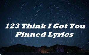 123 Think I Got You Pinned Lyrics