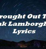 Brought Out The Pink Lamborghini Lyrics