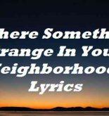 If There Something Strange In Your Neighborhood Lyrics