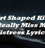 Heart Shaped Kisses I Really Miss My Mistress Lyrics