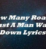 How Many Roads Must A Man Walk Down Lyrics