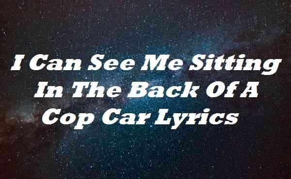 I Can See Me Sitting In The Back Of A Cop Car Lyrics