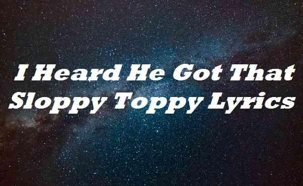 I Heard He Got That Sloppy Toppy Lyrics