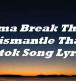 Imma Break This B Dismantle That Tiktok Song Lyrics