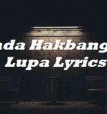 Kada Hakbang Sa Lupa Lyrics