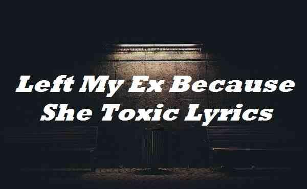 Left My Ex Because She Toxic Lyrics