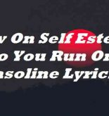 Low On Self Esteem So You Run On Gasoline Lyrics