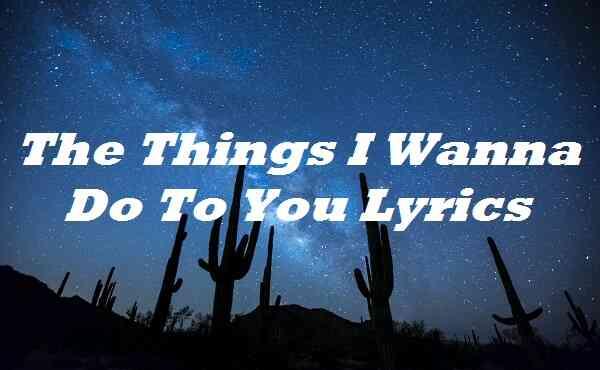 The Things I Wanna Do To You Lyrics