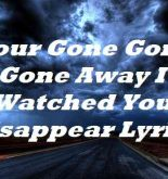 Your Gone Gone Gone Away I Watched You Disappear Lyrics
