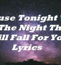 Cause Tonight Will Be The Night That I Will Fall For You Lyrics