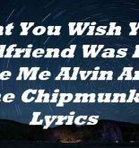 Dont You Wish Your Girlfriend Was Hot Like Me Alvin And The Chipmunks Lyrics