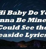 Hi Baby Do You Wanna Be Mine We Could See the Seaside Lyrics