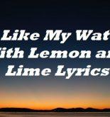 I Like My Water With Lemon and Lime Lyrics