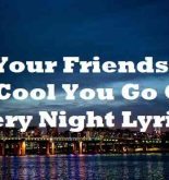 All Your Friends Are So Cool You Go Out Every Night Lyrics