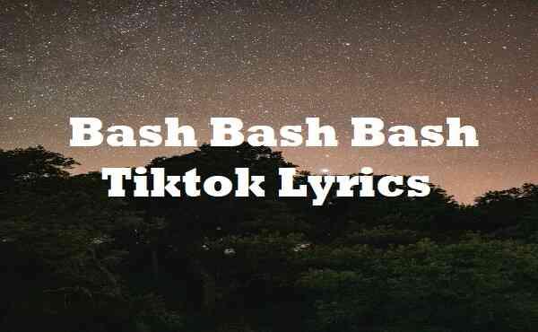 Bash Bash Bash Tiktok Lyrics