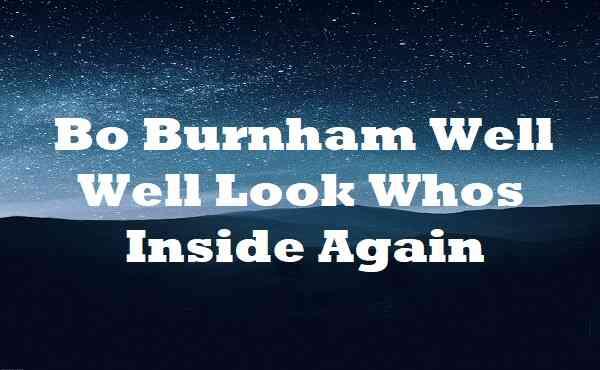 Bo Burnham Well Well Look Whos Inside Again