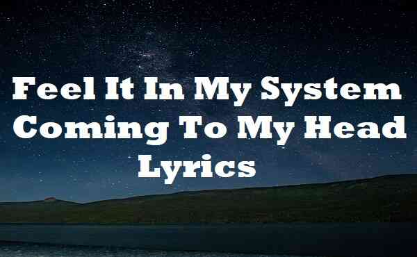 Feel It In My System Coming To My Head Lyrics