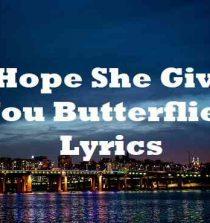 I Hope She Gives You Butterflies Lyrics