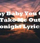 I Say Baby You Can Take Me Out Tonight Lyrics