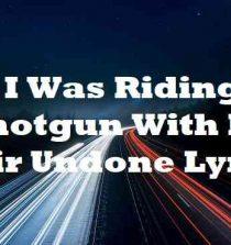 I Was Riding Shotgun With My Hair Undone Lyrics