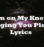 Im on My Knees Begging You Please Lyrics