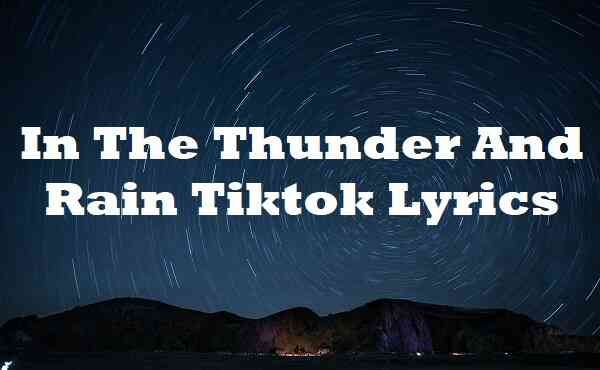 In The Thunder And Rain Tiktok Lyrics