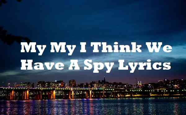 My My I Think We Have A Spy Lyrics