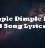 Simple Dimple Pop It Song Lyrics
