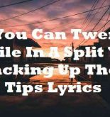 You Can Twerk While In A Split You Racking Up Them Tips Lyrics