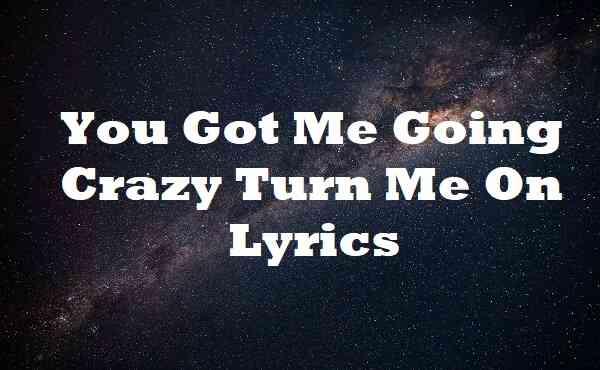 You Got Me Going Crazy Turn Me on Lyrics