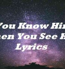 You Know Him When You See Him Lyrics
