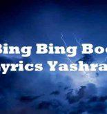 Bing Bing Boo Lyrics Yashraj