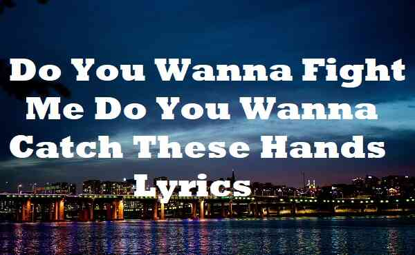 Do You Wanna Fight Me Do You Wanna Catch These Hands Lyrics
