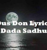 Dus Don Lyrics Dada Sadhu