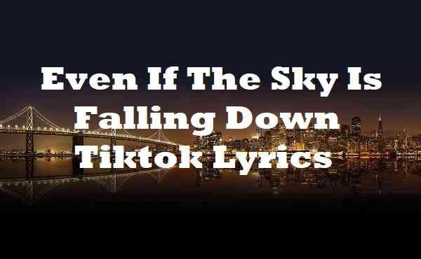 Even If The Sky Is Falling Down Tiktok Lyrics