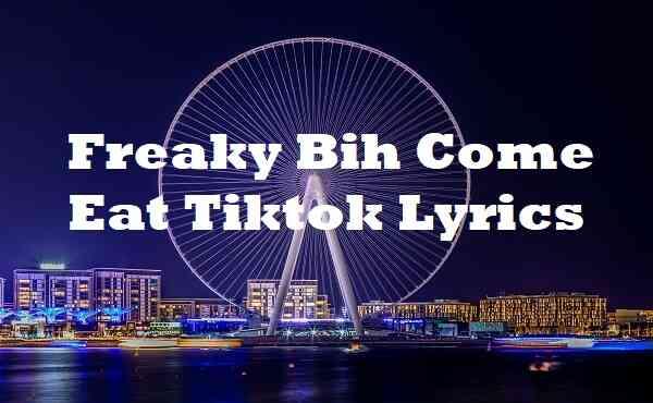 Freaky Bih Come Eat Tiktok Lyrics