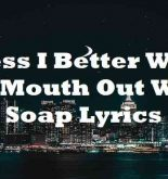 Guess I Better Wash My Mouth Out With Soap Lyrics