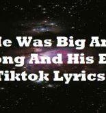 He Was Big And Strong And His Eyes Tiktok Lyrics