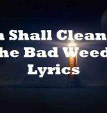 Jah Shall Clean All The Bad Weeds Lyrics