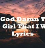 Oh God Damn That The Girl That I Want Lyrics