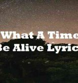 Oh What A Time To Be Alive Lyrics