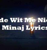Ride Wit Me Nicki Minaj Lyrics