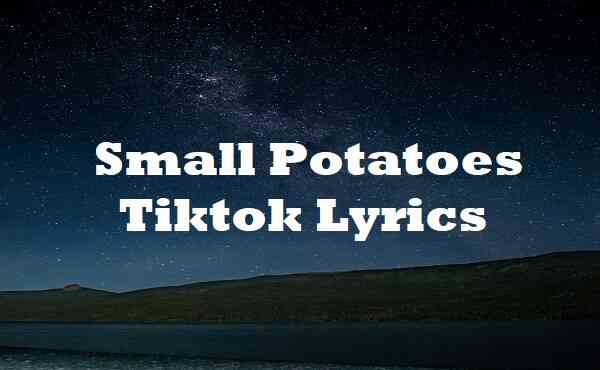 Small Potatoes Tiktok Lyrics