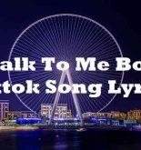 Talk To Me Boy Tiktok Song Lyrics