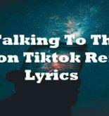 Talking To The Moon Tiktok Remix Lyrics