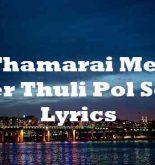 Thamarai Mele Neer Thuli Pol Song Lyrics